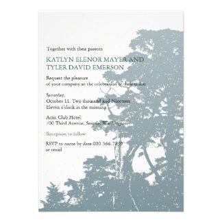 Nature - Trees Love Winter Wedding Invites Invitation