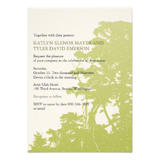 Nature - Trees Love Winter Wedding Invites Personalized Announcements