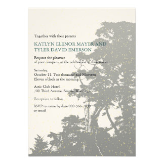 Nature - Trees Love Winter Wedding Invites Custom Announcement
