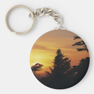 Nature Trees Sunset Bedtime Keychain