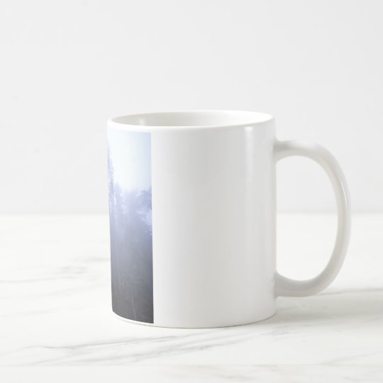 Nature Trees Winter Fog Coffee Mug