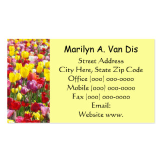 Nature Tulip Flowers Busines Cards Colorful Business Cards