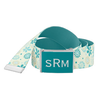 Nature Turquoise Abstract Sunshine Floral Pattern Belt