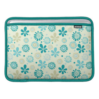 Nature Turquoise Abstract Sunshine Floral Pattern Sleeves For MacBook Air