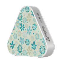 Nature Turquoise Abstract Sunshine Floral Pattern Speaker