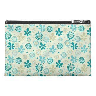 Nature Turquoise Abstract Sunshine Floral Pattern Travel Accessory Bag