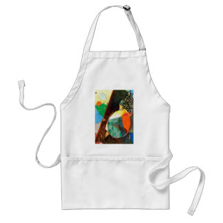 """Nature Watercolor """"Painted Turtle Sunning"""" Apron"""