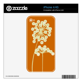 Nature WildFlower  Floral Design Skin For The iPhone 4