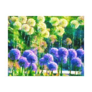 nature wildflowers landscape canvas print