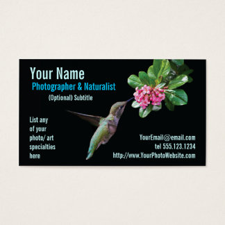 Nature & Wildlife Photographer Business Card