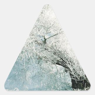 Nature Winter Ice Tree Triangle Sticker