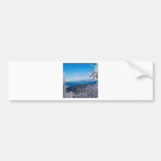 Nature Winter Moutain Top Veiw Bumper Sticker