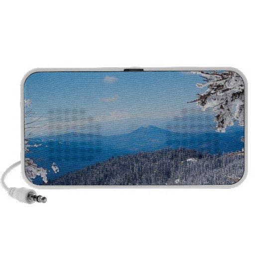 Nature Winter Moutain Top Veiw iPod Speakers
