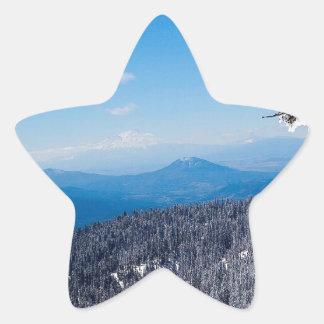 Nature Winter Moutain Top Veiw Star Sticker