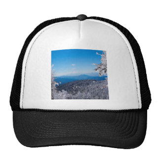 Nature Winter Moutain Top Veiw Trucker Hat