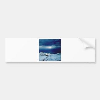 Nature Winter Perfect Whiteout Car Bumper Sticker