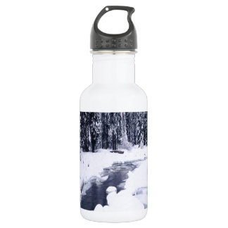 Nature Winter Snowy River 18oz Water Bottle
