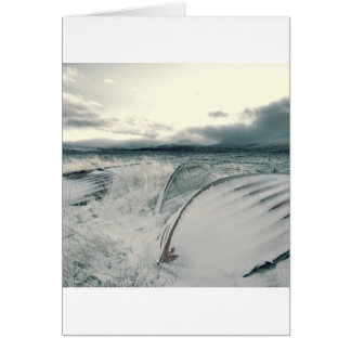 Nature Winter Whiteout Boats Greeting Cards