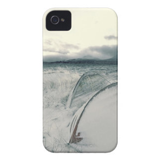 Nature Winter Whiteout Boats iPhone 4 Covers