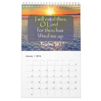Nature with Bible Verses 2016 Calendar
