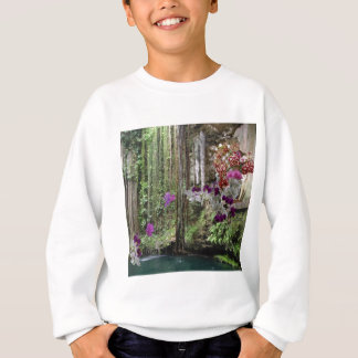 Nature with orchids sweatshirt