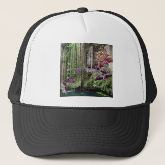 Nature with orchids trucker hat