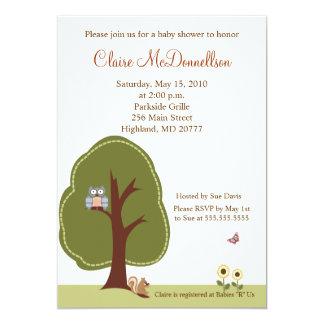 Nature Woodland 5x7 Baby Shower Invitation