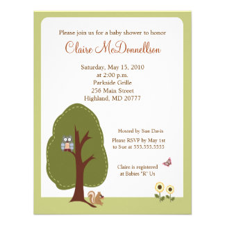 Nature Woodland Earthy Baby Shower Invitation
