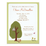 Nature Woodland Earthy Baby Shower Invitation