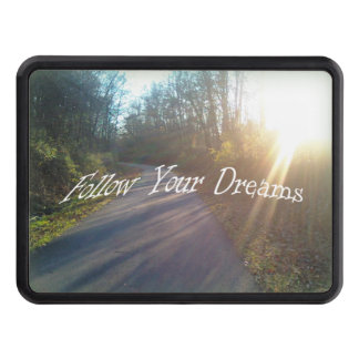 Nature Woods Path Sun Rays Grass Follow Dreams Trailer Hitch Cover