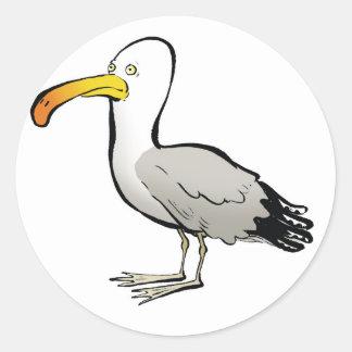 Naturel del au de la gaviota pegatina redonda