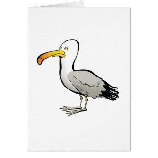 Naturel del au de la gaviota tarjeta de felicitación