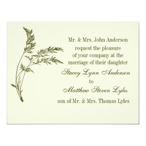 Nature's Appeal Evergreen Wedding Invitation
