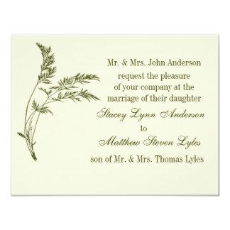 Nature's Appeal Evergreen Wedding Invitation