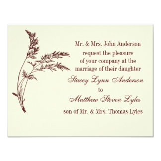 Nature's Appeal Rustic Brown Wedding Invitation