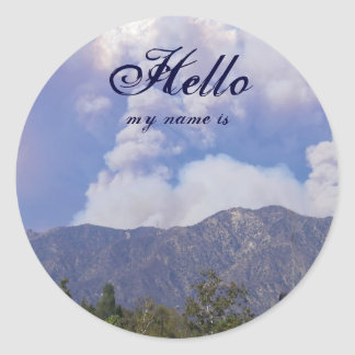 Nature's beauty, Hello, my name is Classic Round Sticker