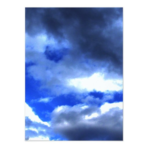 Nature's Beauty In Clouds 5.5x7.5 Paper Invitation Card