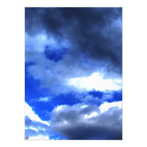 Nature's Beauty In Clouds Custom Announcements