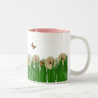 Nature's Beauty Mug. Two-Tone Coffee Mug
