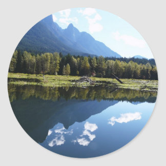 Nature's Beauty Reflected Round Stickers