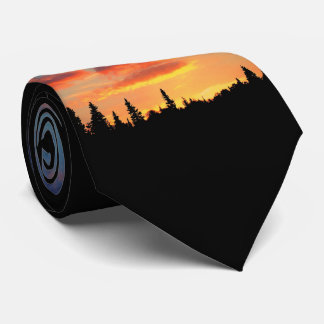 Natures Best - End of the day sunset lake life Neck Tie