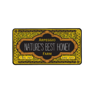 Natures Best Honey Jar Personalized Label