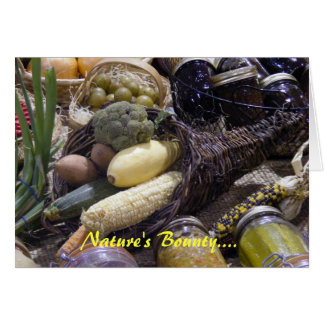 Nature's Bounty.... Card