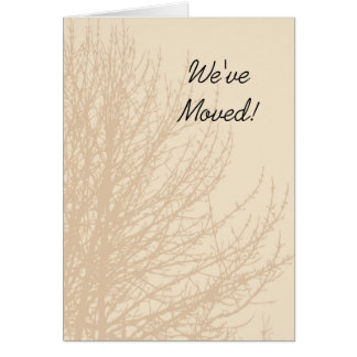 Nature's Branches Change of Address Card