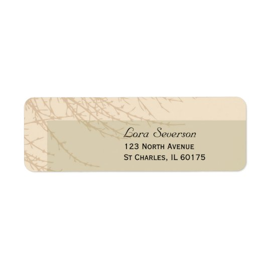 Nature's Branches Return Address Label