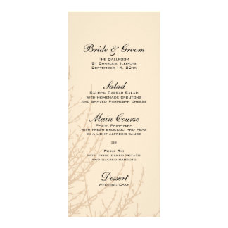 Nature's Branches Wedding Menu