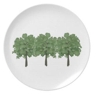 Natures Brush Dinner Plate