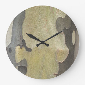 Nature's Camouflage -Sycamore Bark Clock