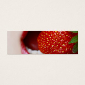 Nature's Candy - Woman Eating Strawberry Mini Business Card