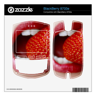 Nature's Candy - Woman Eating Strawberry BlackBerry Skin
